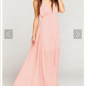 Ava Maxi Dress ~ Frosty Pink Crisp